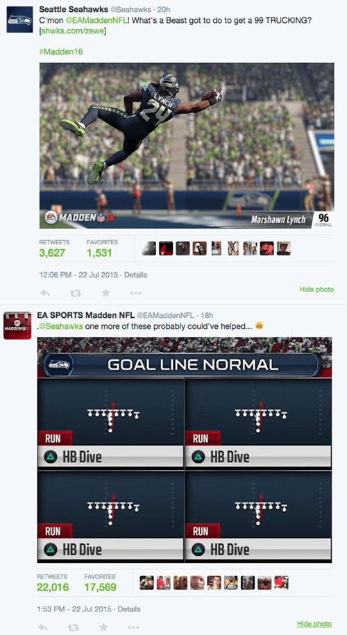 NFL trolling EA Sports Has Super Bowl 49 Jokes, Burns Seahawks on Twitter