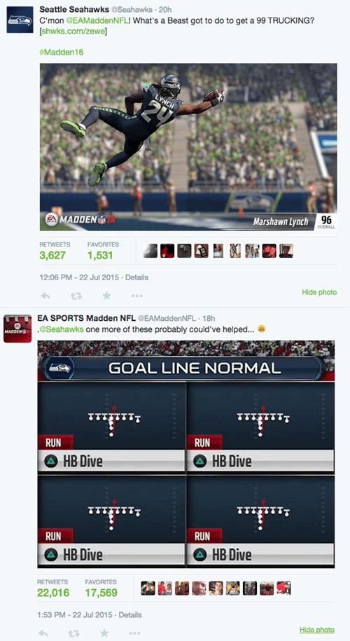 NFL trolling EA Sports Has Super Bowl 49 Jokes, Burns Seahawks on Twitter