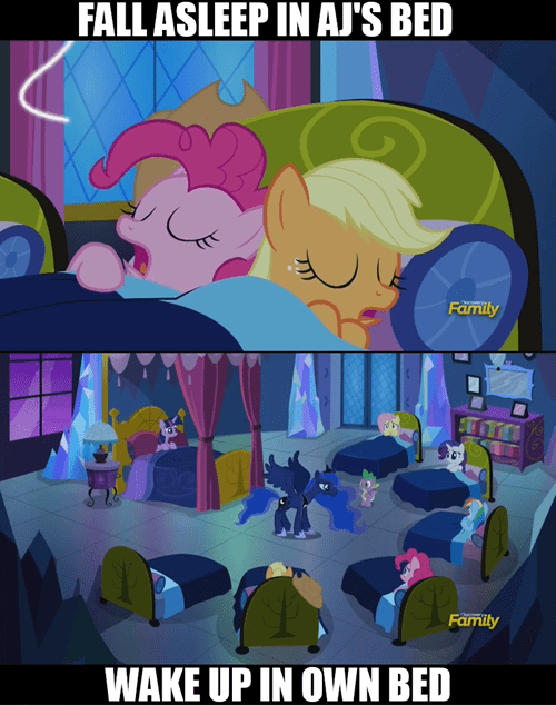 continuity,pinkie pie,sleep