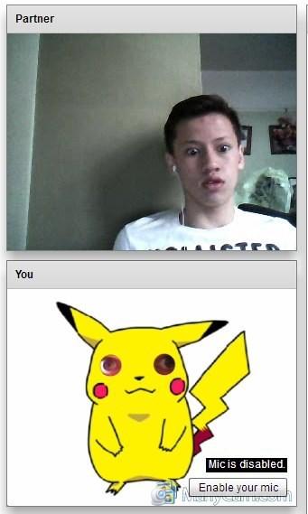 pokemon memes pikachu creepy eyes chatroulette