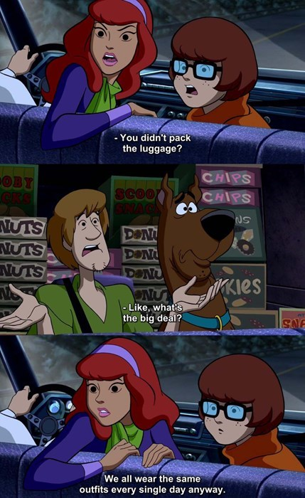 cartoon memes scooby doo suitcases