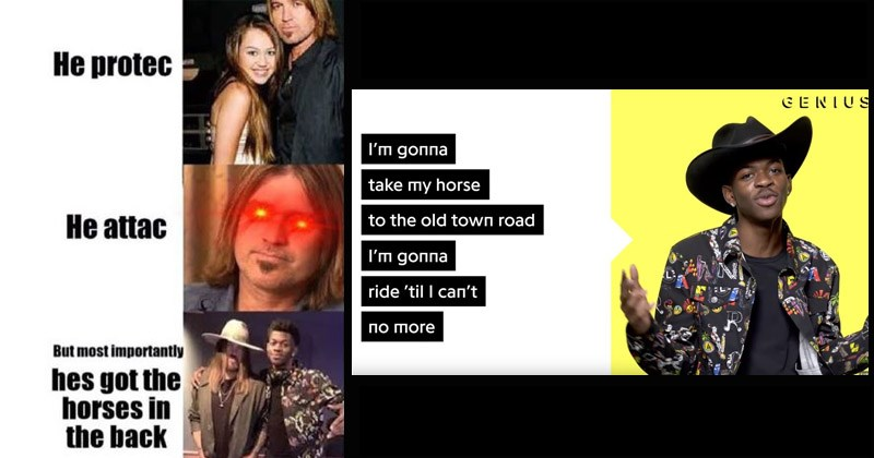 Billy Ray Cyrus old town road old town road lyrics country lil nas x lyrics funny memes rap music pop music horses in the back Video - 8541701