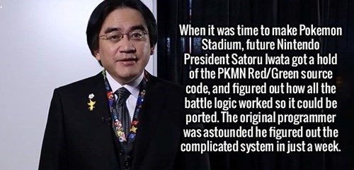 satoru iwata,Pokémon,nintendo,pokemon stadium