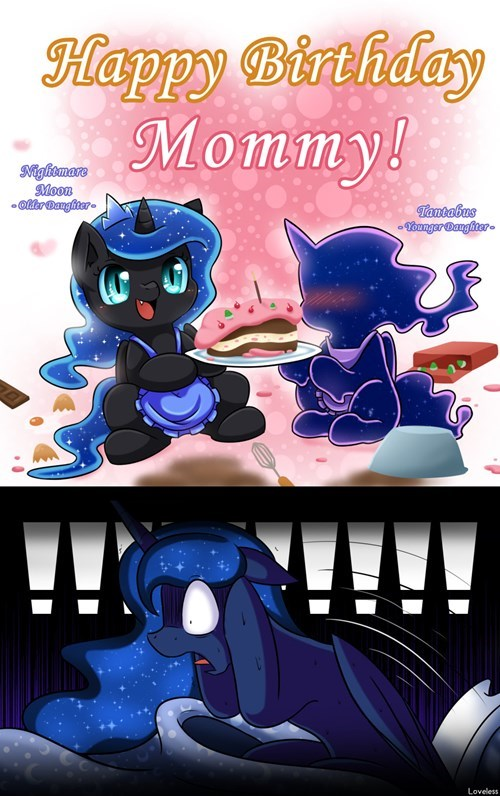 mommy princess luna too spoopy - 8541768960