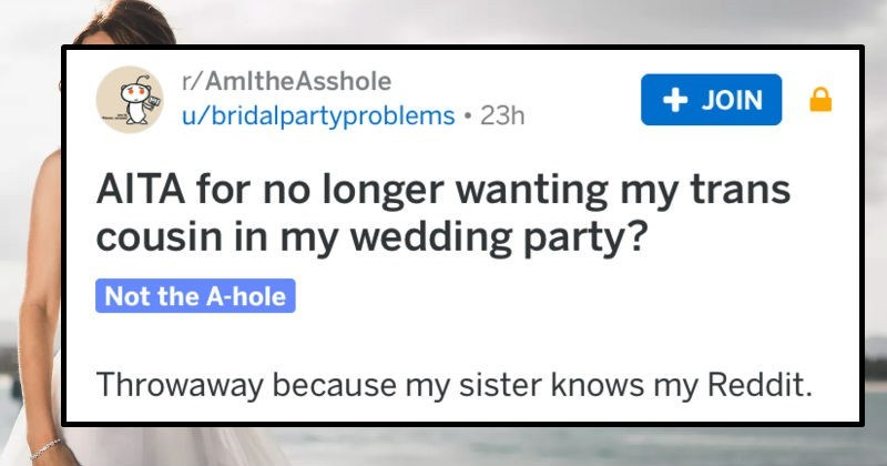 am i the asshole, reddit, wedding, family drama