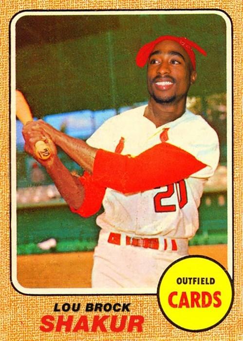 Baseball player - 20 OUTFIELD CARDS LOU BROCK SHAKUR