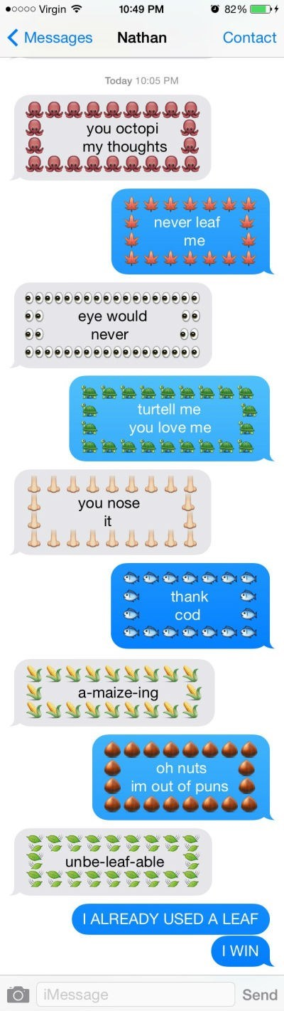win pun texts this-conversation-is-making-me-feel-emojians