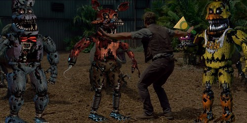 jurassic world fnaf five nights at freddys - 8542940672
