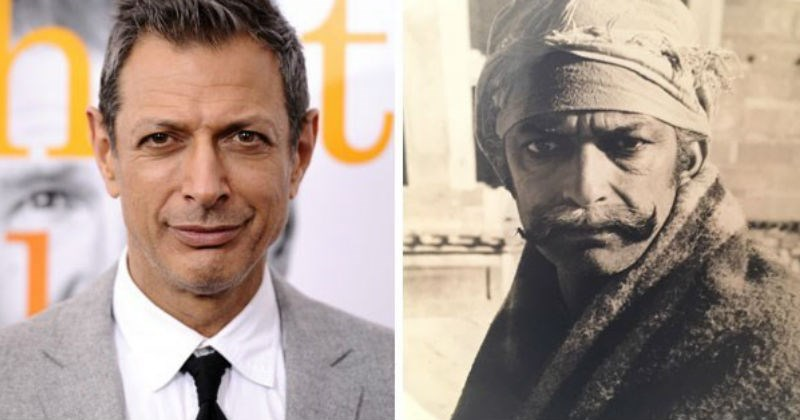 celebrity lookalikes jeff goldblum and indian man