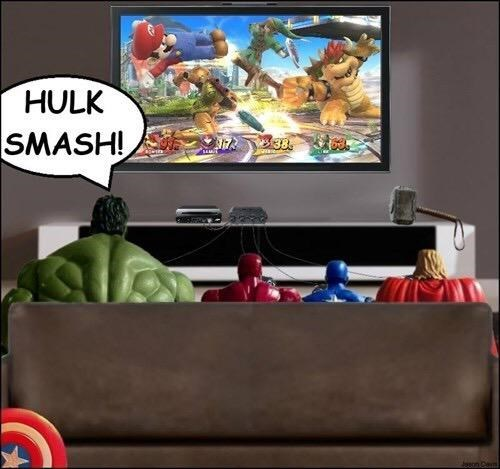 superheroes-avengers-marvel-hulk-smash-bros-joke