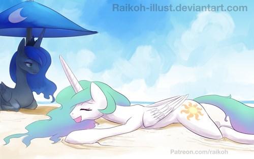 sun butt beach weather princess luna princess celestia - 8545296128