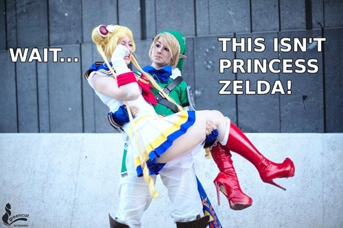 crossover cosplay anime legend of zelda sailor moon video games - 8545991424