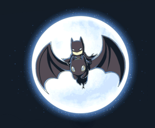toothless,batman,How to train your dragon