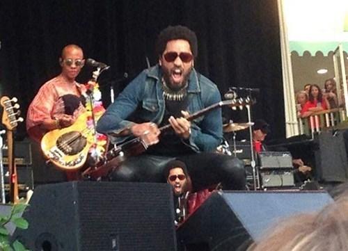Lenny Kravitz Musician Penis Falls Out Concert