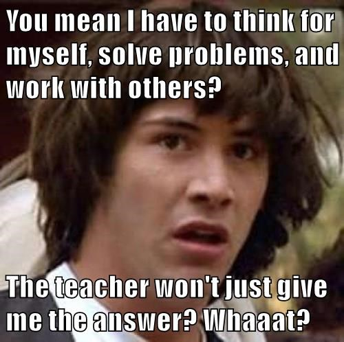 Image result for tell me the answer meme