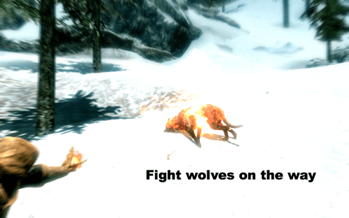 Snow - Fight wolves on the way