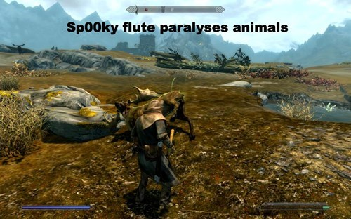 Action-adventure game - Sp00ky flute paralyses animals