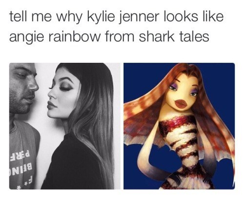 Kylie Jenner Shark Tales Totally Looks Like