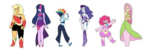 my-little-brony-my-little-crystal-gems-steven-universe-crossover-art
