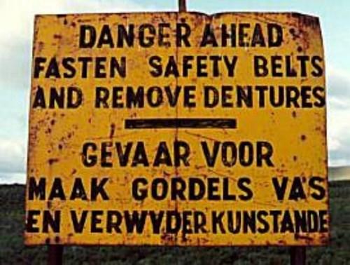 funny memes danger denture sign
