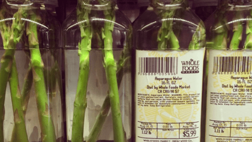 Whole foods sold a jar of asparagus water for $6.