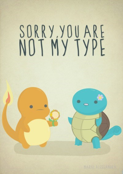 pokemon memes squirtle charmander not my type