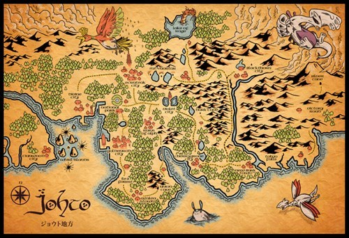 pokemon memes middle earth johto map
