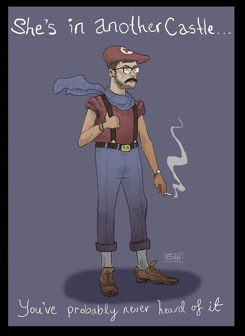 video-games-hipster-mario