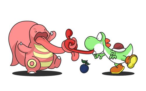 pokemon memes lickitung yoshi crossover