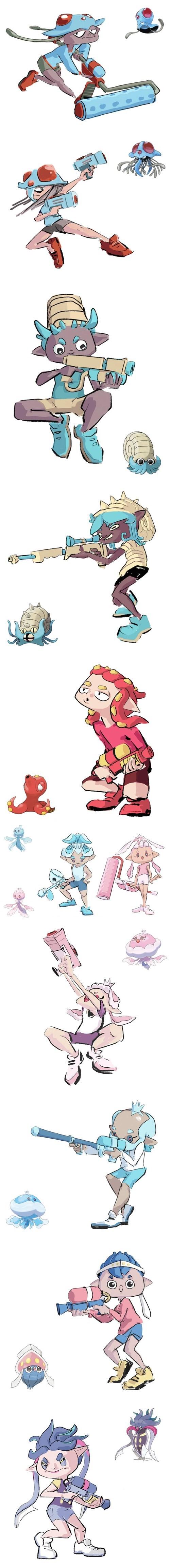 pokemon memes splatoon crossover
