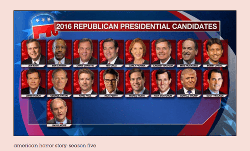American Horror Story GOP Debate Election 2016 Tumblr