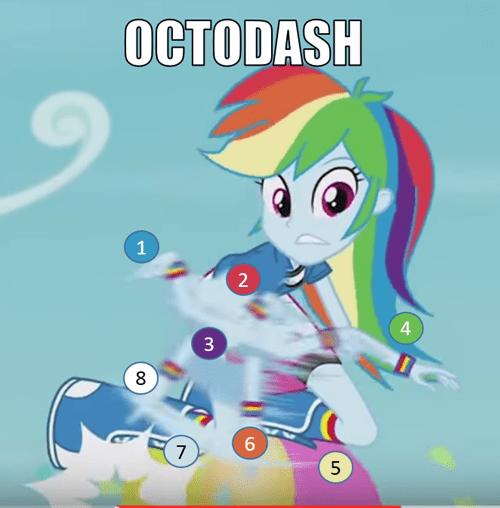 octopus,rainbow dash