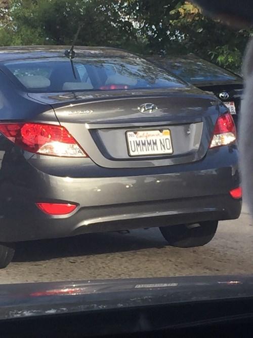 funny memes ummmm no license plate