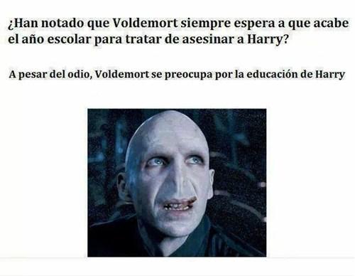 Voldemort se preocupa por educacion