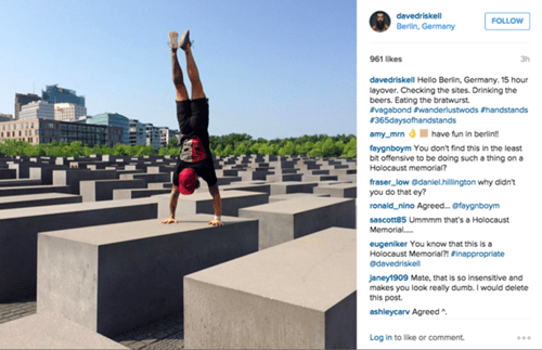 German Holocaust memorials aren't really the best place to do CrossFit.