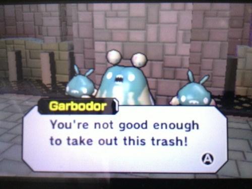 pokemon memes garbodor not good enough to take out this trash
