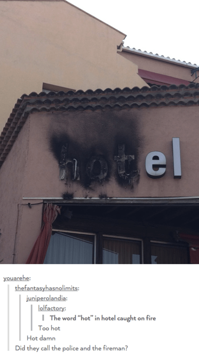 funny memes too hot hotel sign