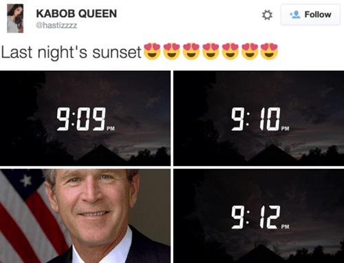 funny memes 9 11 sunset