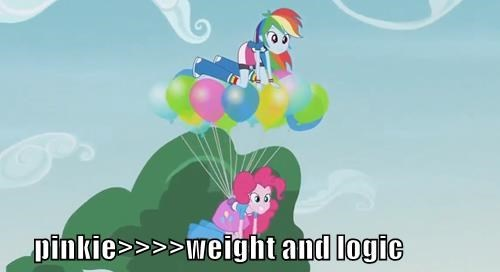 pinkie pie,Gravity,logic