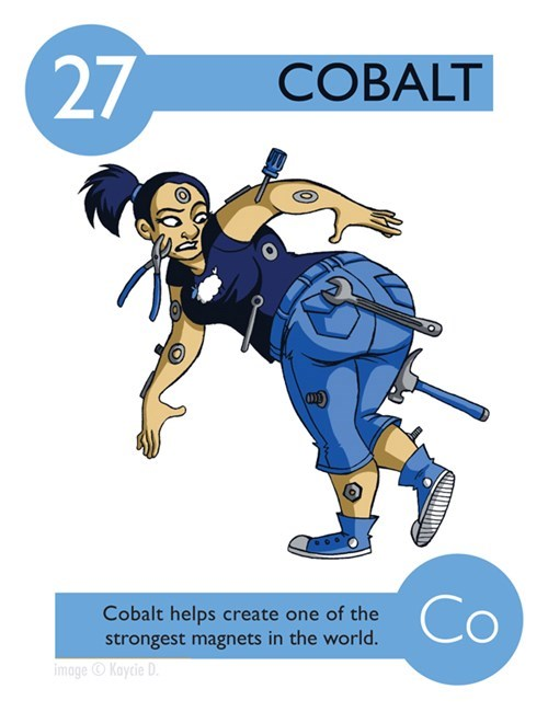 Cartoon - 27 COBALT Co Cobalt helps create one of the strongest magnets in the world. imageKaycie D