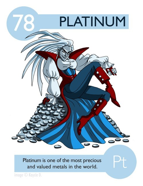 Cartoon - 78 PLATINUM Pt Platinum is one of the most precious and valued metals in the world. image Kaycie D