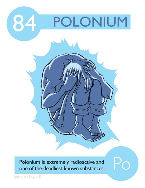 Text - 84 POLONIUM Po Polonium is extremely radioactive and one of the deadliest known substances. image Kaycie D