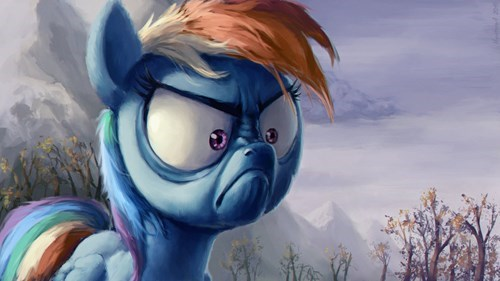 Rainbow Dash is NOT Angry