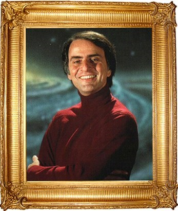 Pharrell Williams demands to have a framed picture of Carl Sagan.