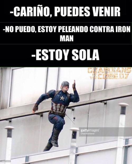 peleando contra iron man
