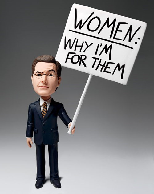 Stephen Colbert writes an op ed for Glamour about gender equality.