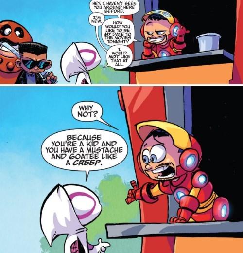superheroes-spider-gwen-marvel-senses-the-jerk-in-you-iron-man