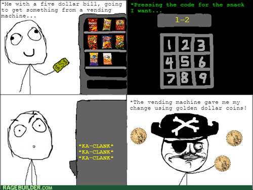 gold,pirates,vending machine