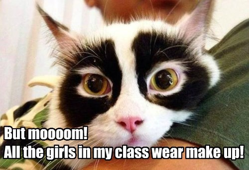 But moooom!  All the girls in my class wear make up!
