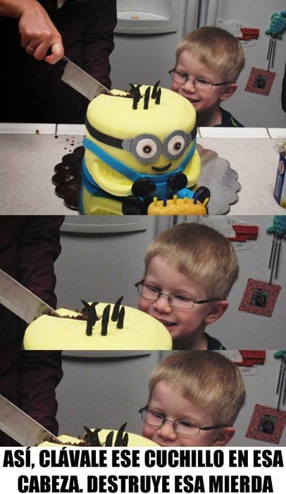 destruyendo al minion